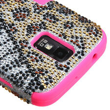 For Samsung Galaxy S II 2 T989 BLING IMPACT TUFF HYBRID Hard Case Cover Hottie