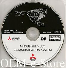 2006 to 2010 Mitsubishi Galant Endeavor Navigation DVD Disc #1 Cover: North East
