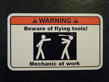 flying tools Tool Box Warning Sticker Must Have!! snapon mac dewalt
