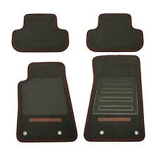 92221511 Chevy Camaro Frt. & RR. Premium Black Carpet Floor Mats Orange Edging