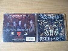 MONSTROSITY Rise To Power (2003 Conquest 1st USA press)Immolation,Gorguts,Grave