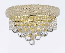 "EMPIRE EMPRESS CRYSTAL (tm) WALL SCONCE LIGHTING W 12"" H 6"""
