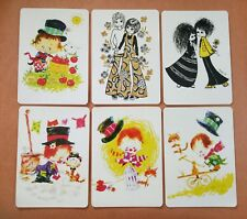 Playing cards swap card  single wide LADY kids retro