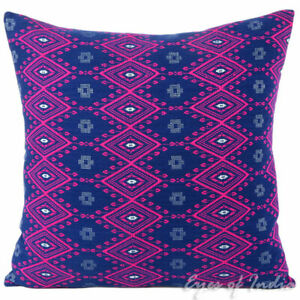 "16/24"" Pink Blue Purple - Dhurrie Couch Sofa Pillow Cover Case Cushion Throw Boh"