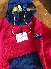 NWT Polo Ralph Lauren Hi Tech Fleece Hoodie XL RL2000 Red Stadium CP-93 1992 93!
