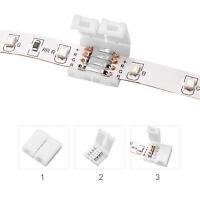 10x LED RGB Strip Schnellverbinder Steckverbinder Klick Verbinder 5050 4pol Set