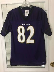 Youth Baltimore Ravens NFL Football Team Jersey No. 82 Smith Size XL