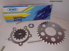 Kreidler Florett K54 RM LF LFH GT Kettensatz Kette 415 Ritzel Kettenrad 14/33