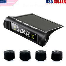 Solar TPMS Wireless Car Tire Pressure LCD Monitoring System + 4 External Sensors
