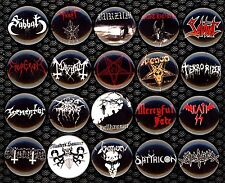 Black Metal x 20 NEW buttons pins badges bathory venom celtic frost mayhem