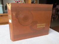 """Vintage Brown Embossed 10 Page 10"""" 78 rpm Record Album Storage Book Binder"""