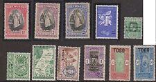 (OF-20) 1938-60 Tonga& Togo mix of 21 stamps