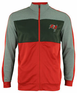 OuterStuff NFL Youth Performance Full Zip Stripe Jacket , Tampa Bay Buccaneers
