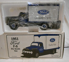 FIRST GEAR  1992 FORD QUALITY PARTS TRUCK DIECAST BANK  1951 F-6 DRY GOODS VAN