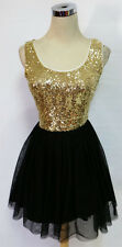 WINDSOR Black Gold Dance Party Prom Dress 7 - $75 NWT