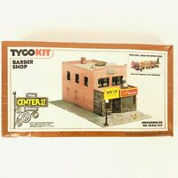 NEW TYCO Kit Center St Series HO Scale Building Kit Set Barber Shop Sealed VTG