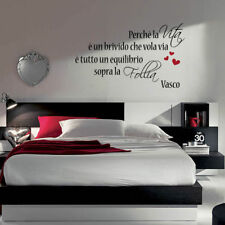 adesivo murale wall stickers frase adesivi senza parole vasco rossi amore a0001