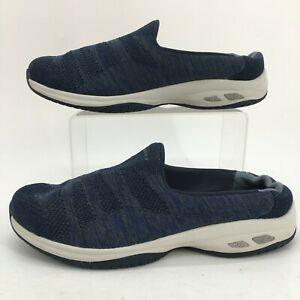 Skechers Commute Time Knitastic Clog Womens 8 Blue Gray Relaxed Fit Slip On Shoe