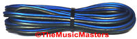 12 Gauge 15' ft SPEAKER WIRE Blue Black Premium HQ Car Audio Home Stereo Cable