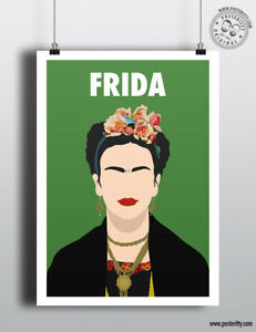 FRIDA KAHLO Minimalist Strong Female Print Minimal Inspirational Women Poster