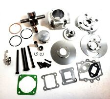 44MM BIG BORE KIT TOP END FOR ATV POCKET BIKE 47CC 49CC 2 STROKE STAGE 2 SILVER