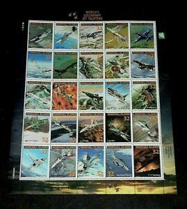 MARSHALL ISLANDS,1995, LEGENDARY AIRCRAFT, JETS, SHEET/25, MH, NICE! LQQK!