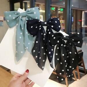 3pcs Women Girl's Chiffon Big Bow Hair Clip Sweet Elegant Ribbon  Hairpin #AA