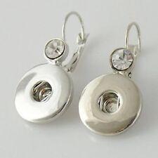 Earrings 18mm Magnolia Vine Earring Button Fits Ginger Snap Ginger Snaps Hook