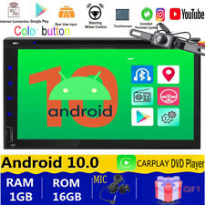 """Sony Android 10.0 GPS Navigation Car DVD Radio SD Double 2 Din 7"""" in Dash+CAM"""