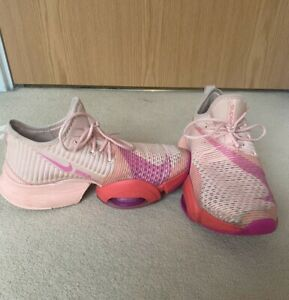 Nike Air~ Zoom~SuperRep~Trainers Shoes Coral & Fire Pink, UK6 HIIT Gym