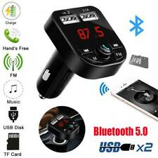 Bluetooth5.0 Car FM Transmitter Wireless Radio Adapter USB Charger Mp3 Player CA
