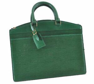 Authentic Louis Vuitton Epi Riviera Hand Bag Green M48184 LV E1438