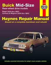 Buick Regal Century Wagon 1974-1987 Haynes Workshop Manual Service Repair
