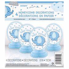 BLUE UMBRELLAPHANTS -HONEYCOMB DEC - Baby Shower Boy Party Decorations Supplies