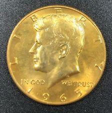 1965-P SILVER KENNEDY HALF DOLLAR GOLD GILDED CHOICE UNC BU SELECT GEM (MR)