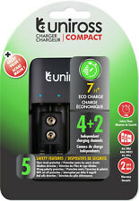 UNiROSS FAST COMPACT AA/AAA/PP3 CHARGER FOR RECHARGEABLE  BATTERIES - MUSB