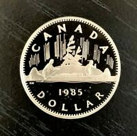 CANADA 1985 PROOF DOLLAR VOYAGEUR - FROM RCM SET