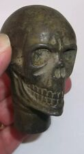 Walking Stick Handle 'SKULL' Style Top Brass/Bronze Nice Detail Heavy for Size