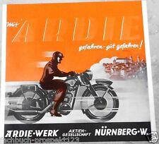 ARDIE 1939 PROSPEKT NÜRNBERG RZ 200 RBZ 250 MOTORRAD OLDTIMER MOTORRAD