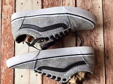 VANS Men's 7.5 Gray Heathered Low Top Lace Up Sneaker