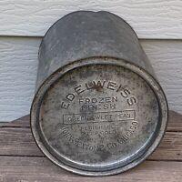 Rare VTG EDELWEISS Brand FROZEN FRESH Sweet Peas Tin JOHN SEXTON & CO Chicago IL