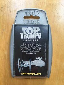 STAR WARS EPISODES IV - VI TOP TRUMP SPECIALS CARD SET 2004 - DARTH VADER