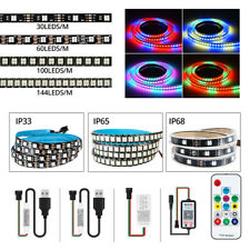 WS2812B Strip LED Lights 100LEDs/144LEDS/60leds/M USB14key/ Bluetooth Controller