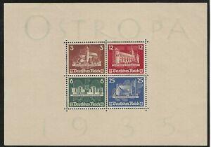 Germany 1935 Ostropa miniature sheet hinged unused