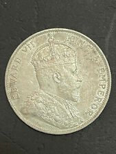 More details for 1905 hong kong 50 cents - edward vii silver km# 15 xf40