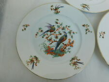 BOHEMIA CHINA 5 SALAD PLATE BIRD OF PARADISE BOH65 CZECHO-SLOWAKIA 1921-45 EATON