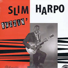 """SLIM HARPO - BUZZIN' (12 trax - 10"""" VINYL LP - EXCELLO BLUES BOPPERS (rockabilly"""