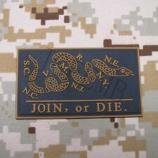 DON'T TREAD ON ME JOIN OR DIE Snake 3D PVC Patch