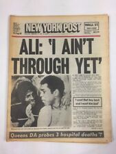 1978 Muhammed Ali loses to Leon Spinks BOXING Complete Newspaper New York Post