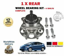 FOR TOYOTA PRIUS 1.8 HYBRID 2009->NEW 1 X REAR WHEEL BEARING HUB ASSEMBLY KIT